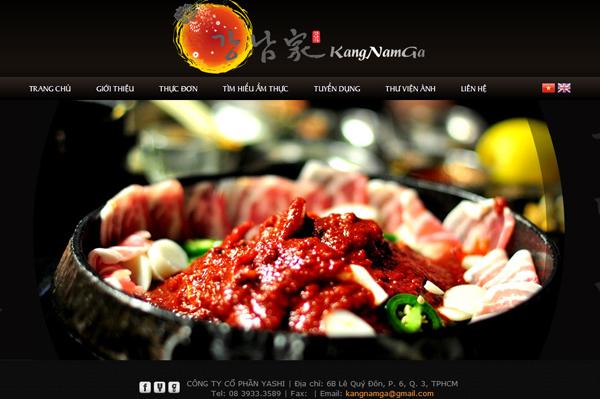 Thiết kế website khách sạn nhà hàng