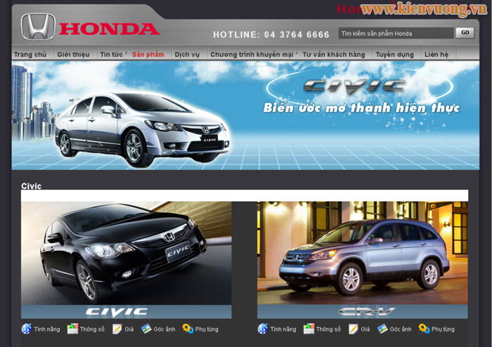 Thiết kế website mua bán ô tô