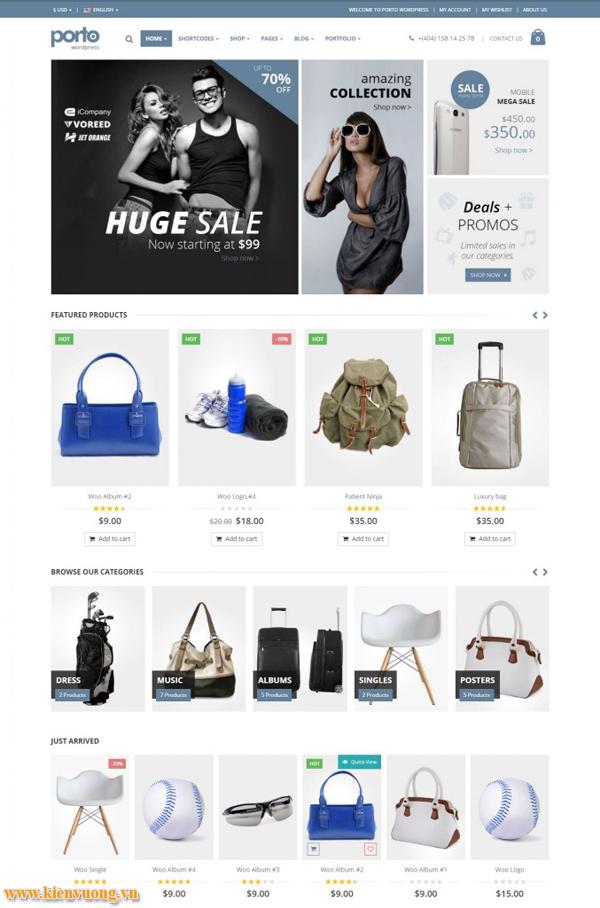 các mẫu website bán hàng đẹp nhất 2018