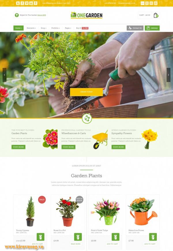 Mẫu web bán hoa tươi