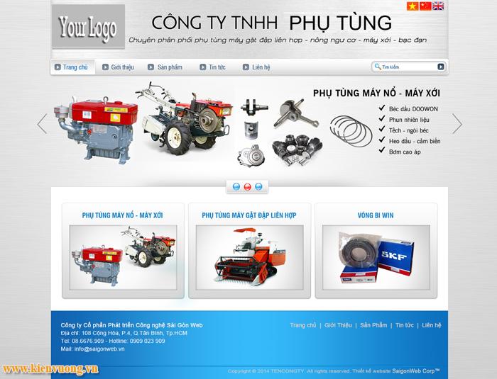 Thiết kế website ngành cơ khí máy móc