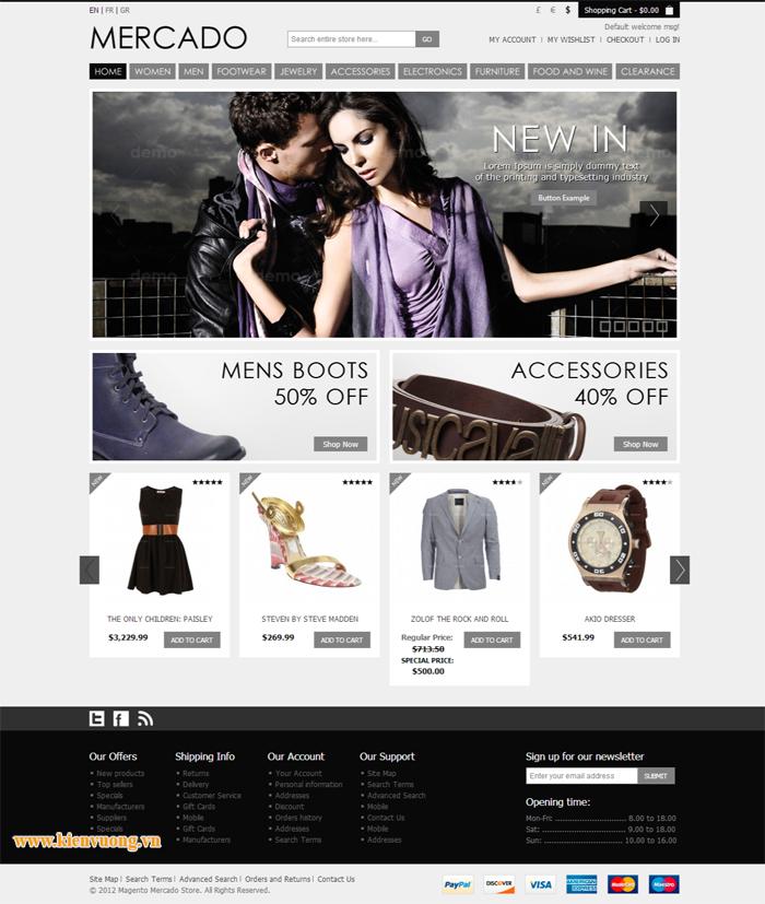 Thiết kế web bán quần áo thời trang