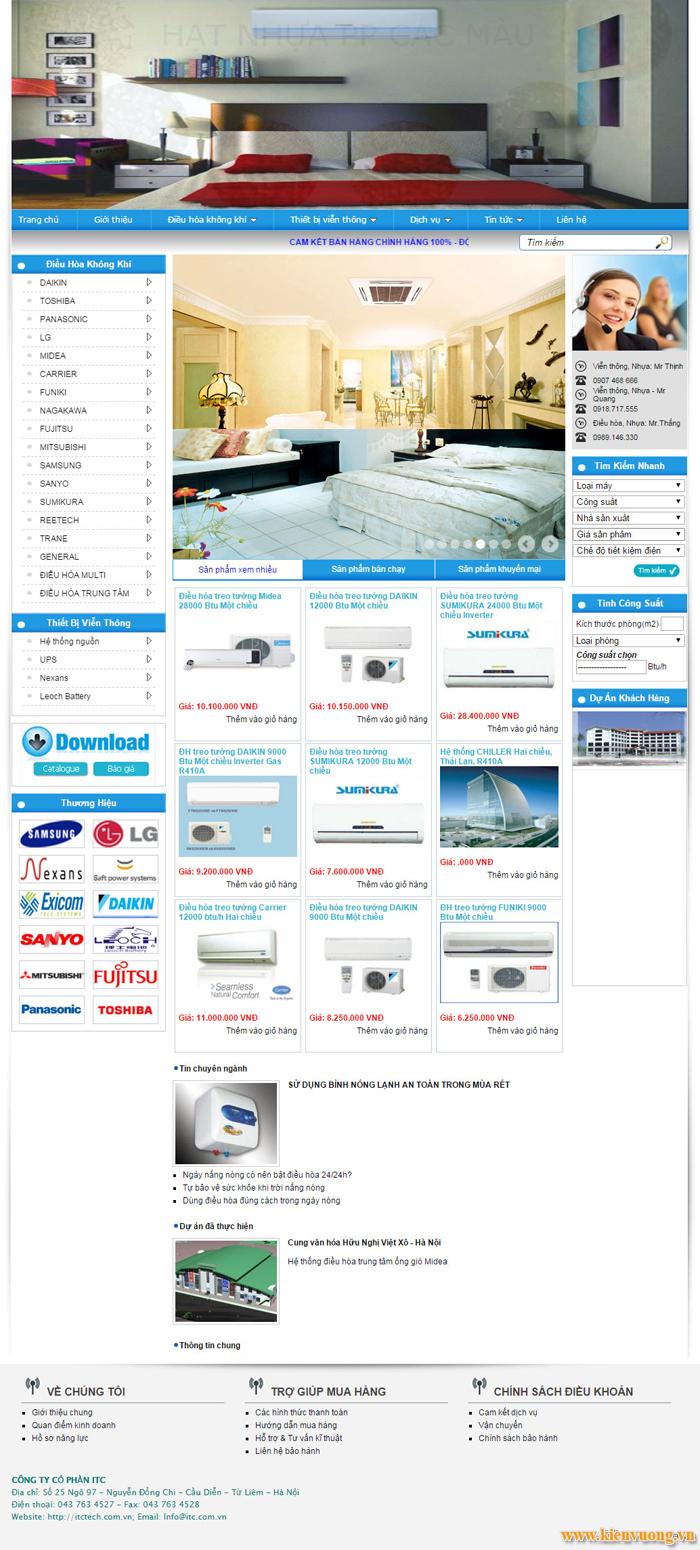 Thiết kế website sửa chữa điện lạnh