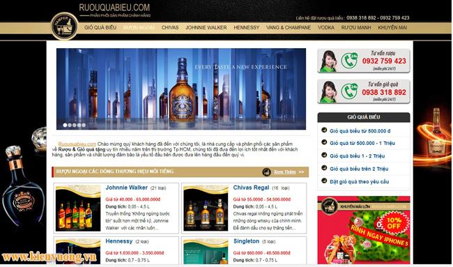 Thiết kế website bán rượu bia