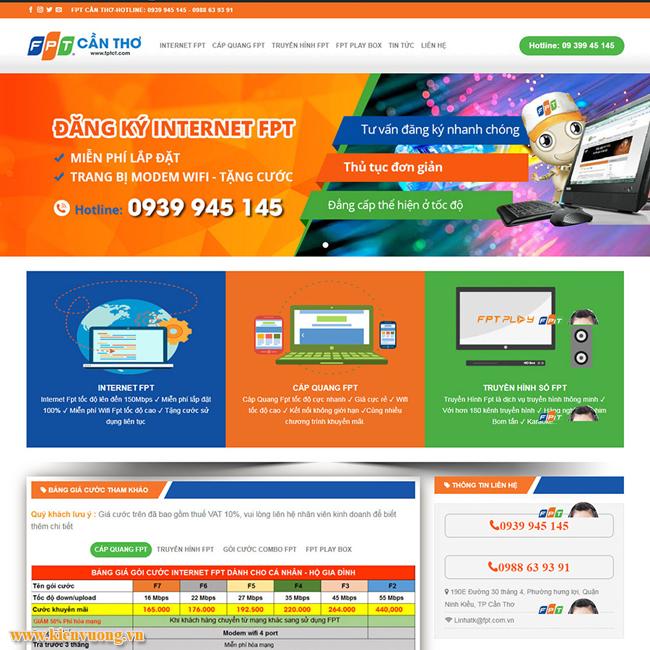 Thiết kế website lắp đặt mạng, truyền hình