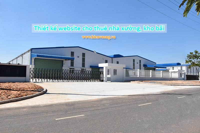 Thiết kế website cho thuê nhà xưởng, kho bãi