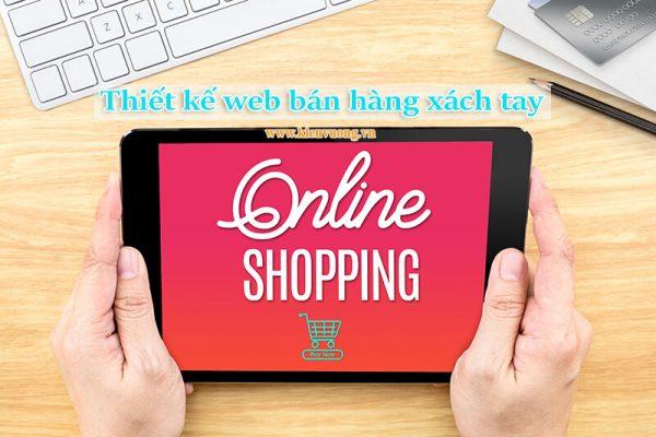 Thiết kế web bán hàng xách tay