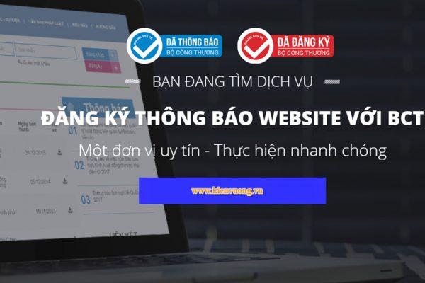Dịch vụ đăng ký và thông báo website với Bộ công thương