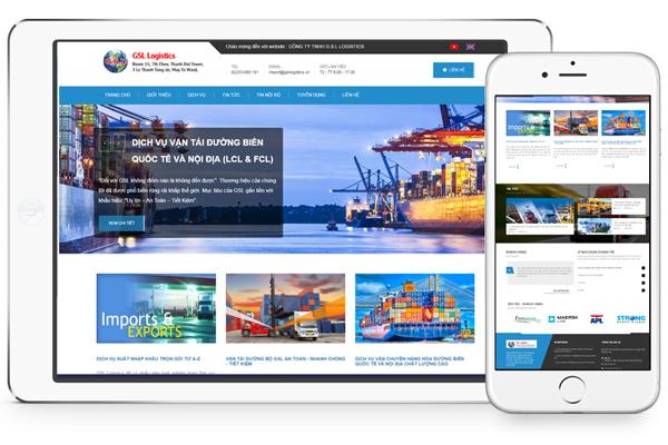Thiết kế website công ty vận tải, logistics, giao nhận chuyên nghiệp