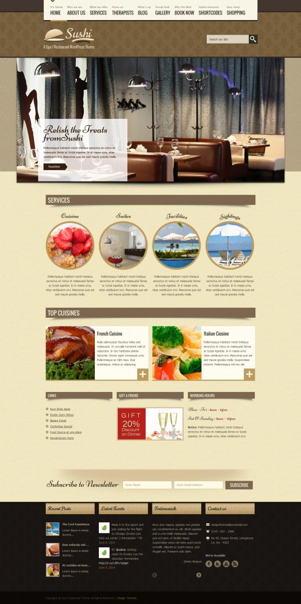 Mẫu web nhà hàng quán ăn đẹp