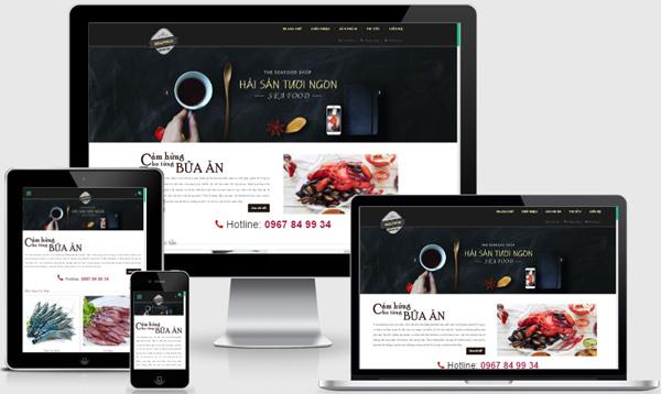 Thiết kế website bán hải sản sạch chuyên nghiệp