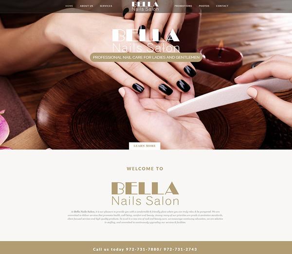 Thiết kế website tiệm nails, salon tóc