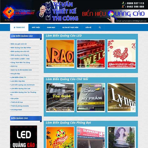 Thiết kế website bảng hiệu quảng cáo