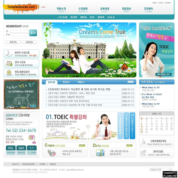 Thiết kế website dịch vụ visa, du học