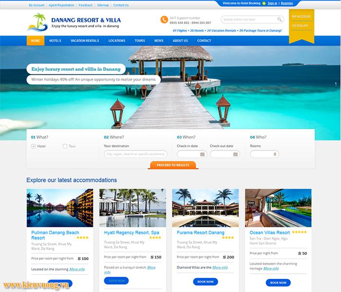 Thiết kế website resort nghỉ dưỡng