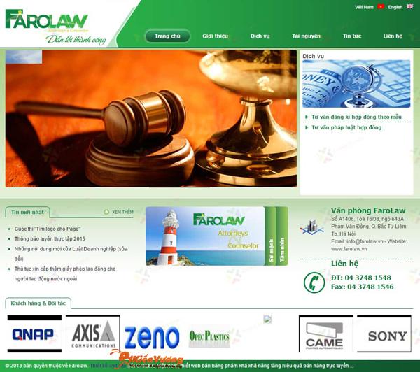 Thiết kế website văn phòng công ty luật sư