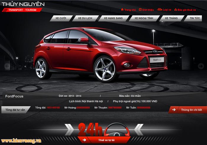 Thiết kế website cho thuê xe chuyên nghiệp