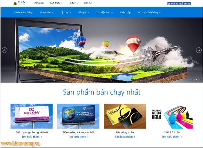 Thiết kế website ngành in ấn thiết kế