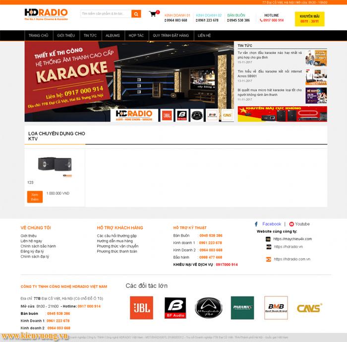 Thiết kế web dịch vụ âm thanh karaoke