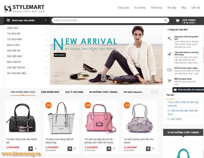 Thiết kế web bán balo túi xách