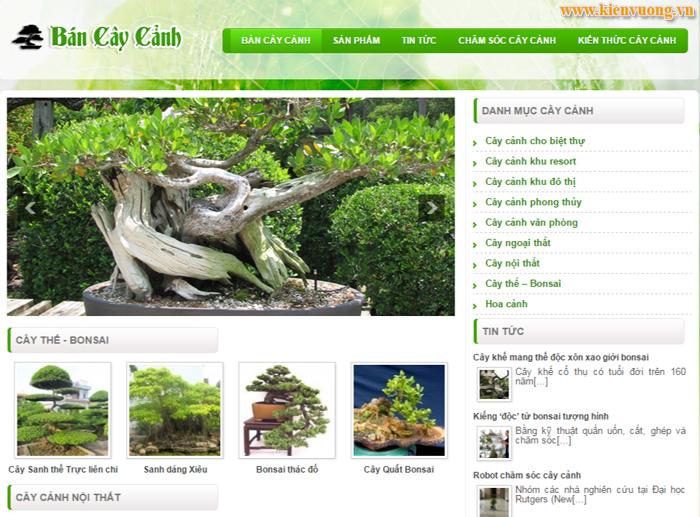 Thiết kế web bonsai, sinh vật cảnh