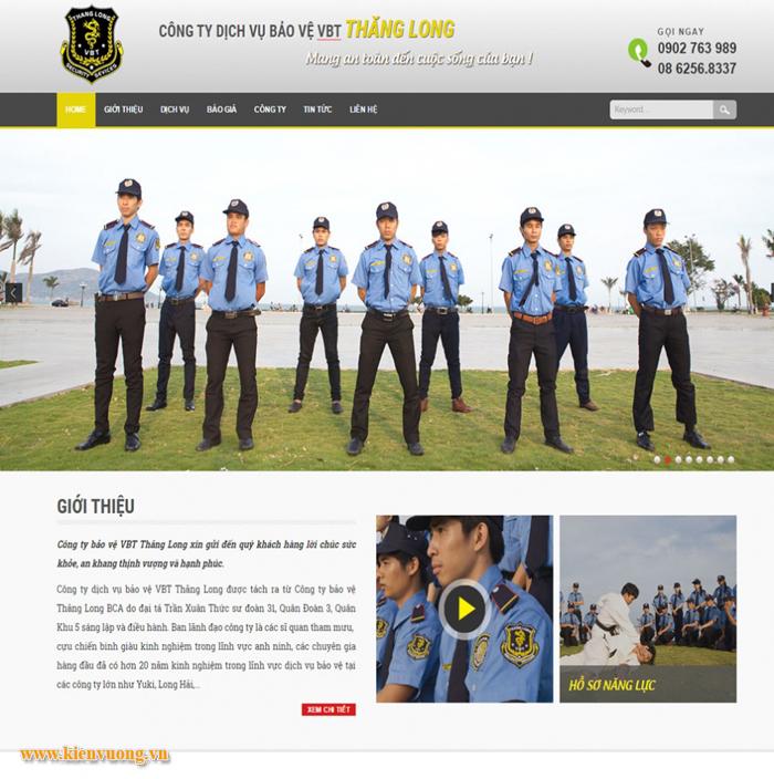 Thiết kế website dịch vụ bảo vệ an ninh