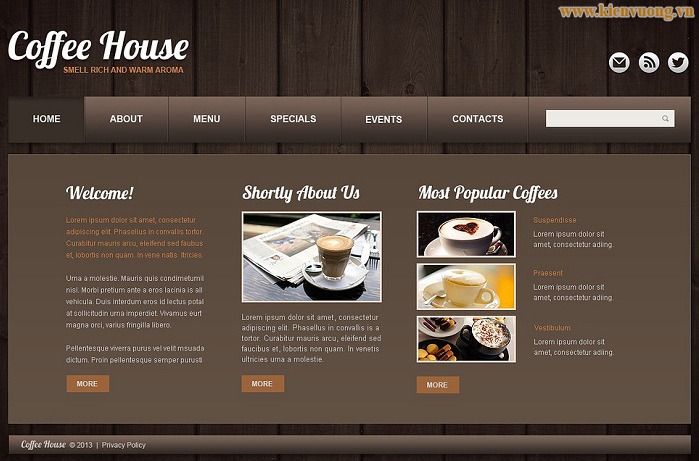 # mẫu thiết kế website quán cà phê