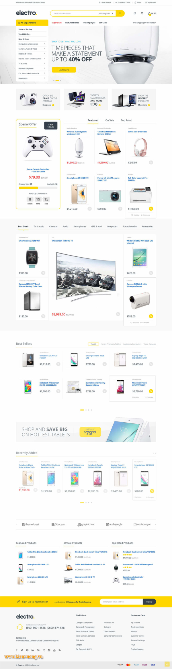 các mẫu website bán hàng đẹp nhất