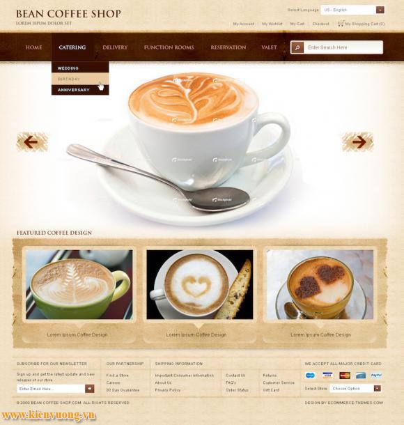 Mẫu web bán cà phê chuyên nghiệp