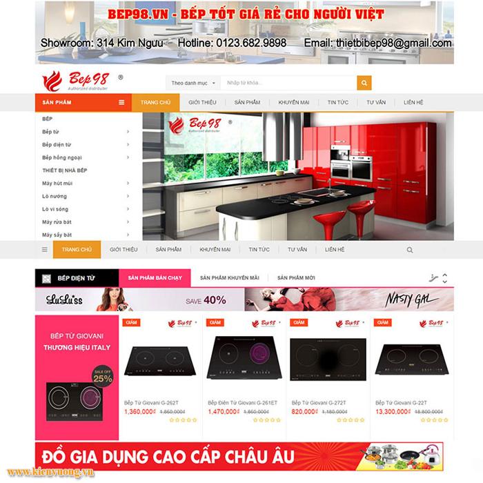 Thiết kế web bán đồ dùng gia đình