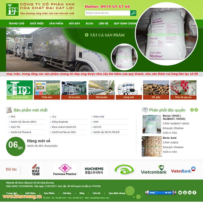 Thiết kế website hóa chất phân bón