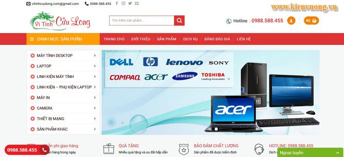 Thiết kế web bán máy tính và phụ kiện