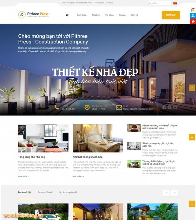 Thiết kế website gạch đá trang trí