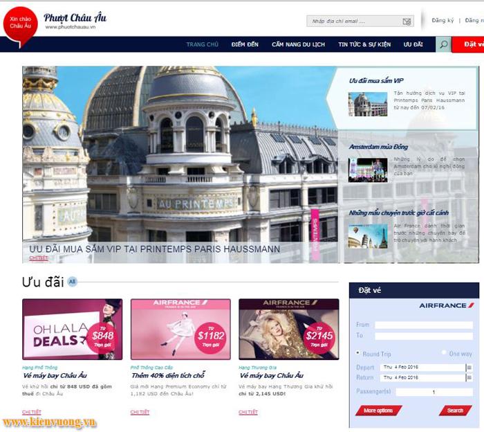 Thiết kế web bán đồ phượt du lịch
