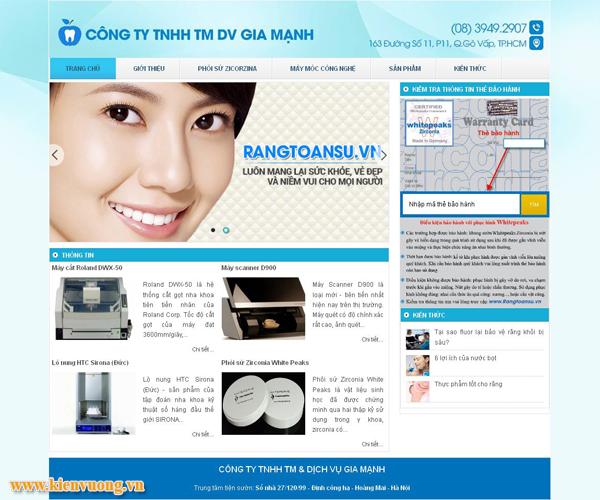 Thiết kế website phòng khám nha khoa
