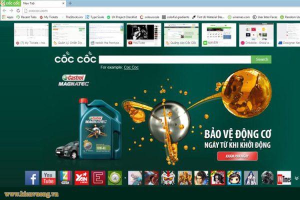 Dịch vụ quảng cáo website trên Cốc Cốc