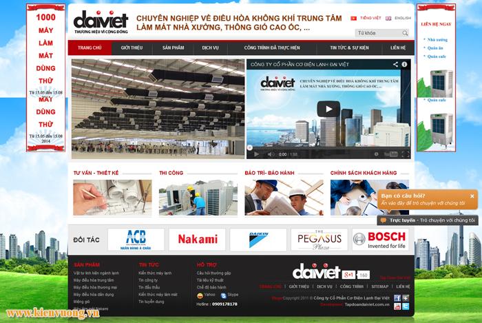 Thiết kế website bán máy lạnh điều hòa