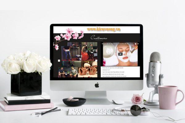 Thiết kế website chăm sóc sắc đẹp