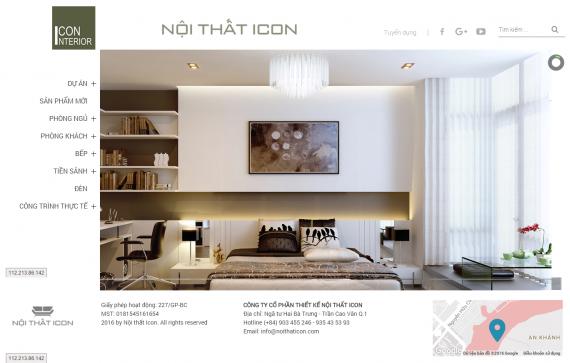 Thiết kế website bàn ghế, tủ quần áo