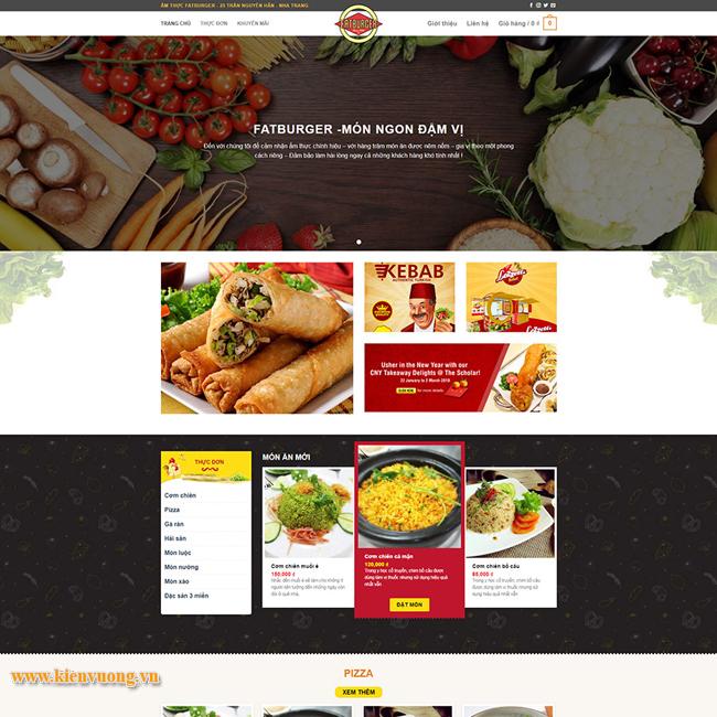 Thiết kế website nhà hàng BBQ