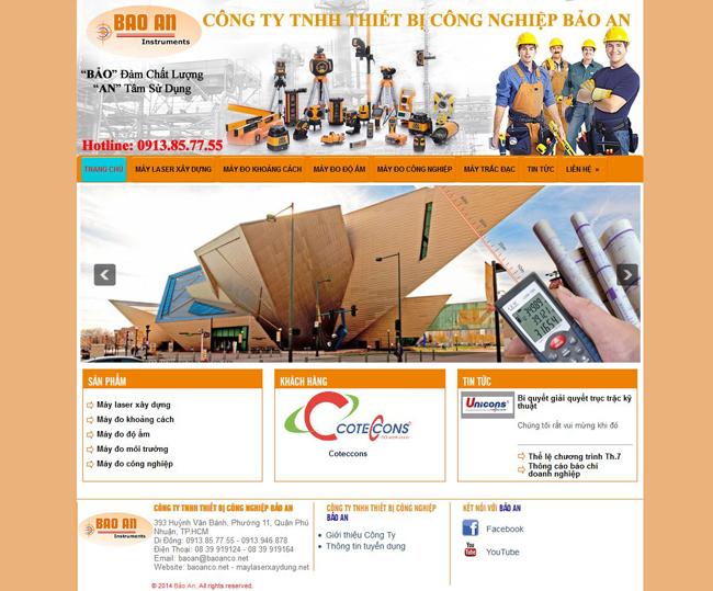 Thiết kế website bán thiết bị công nghiệp