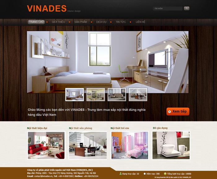 Thiết kế website xưởng gỗ sản xuất đồ nội thất