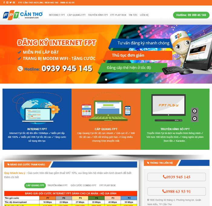 Website FPT chi nhánh Cần Thơ