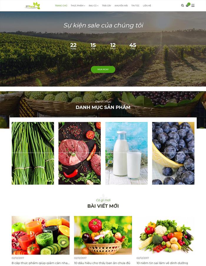 Thiết kế web bán sản phẩm nông nghiệp