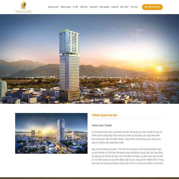 Thiết kế website dự án bất động sản nhà đất