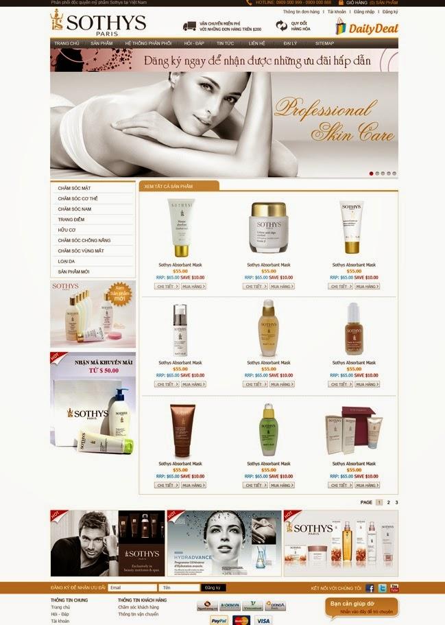 Thiết kế website bán son môi