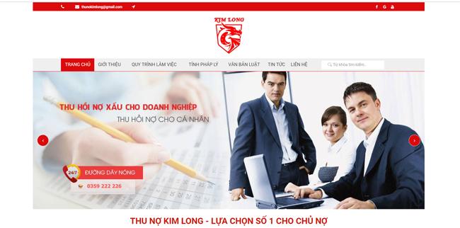Thiết kế website công ty thu hồi nợ
