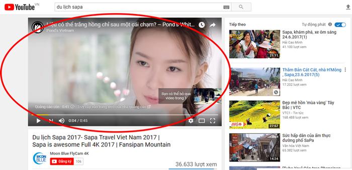 Dịch vụ quảng cáo trên Youtube