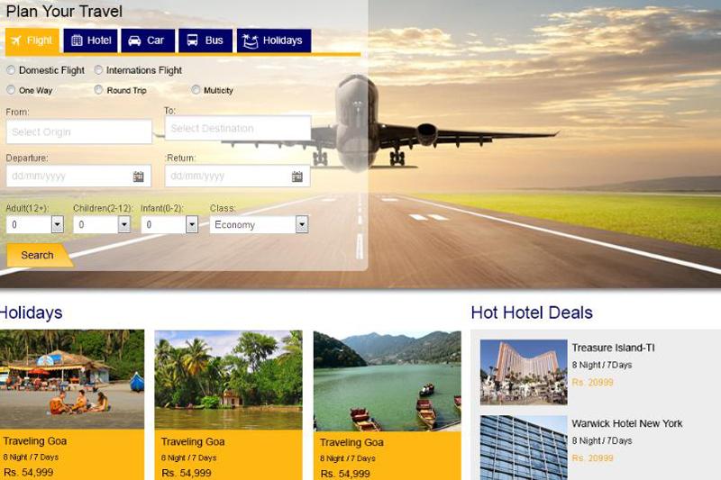 Thiết kế website bán vé máy bay trực tuyến