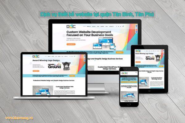Dịch vụ thiết kế website tại quận Tân Bình, Tân Phú